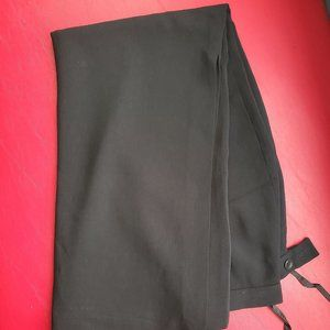 Black full length straight skirt